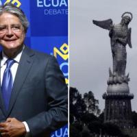 Lasso ofrece una Virgen del Panecillo 'giratoria' y estallan los memes