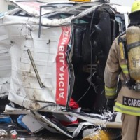 Tres heridos se registraron en accidente vehicular de una ambulancia, al sur de Guayaquil